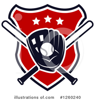 Baseball Clipart #1260240 by Vector Tradition SM
