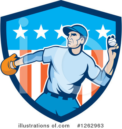 Royalty-Free (RF) Baseball Clipart Illustration by patrimonio - Stock Sample #1262963