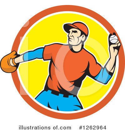 Royalty-Free (RF) Baseball Clipart Illustration by patrimonio - Stock Sample #1262964