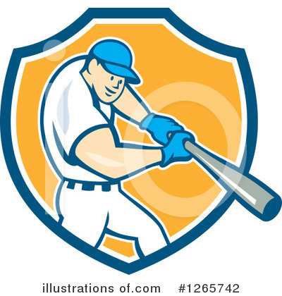 Royalty-Free (RF) Baseball Clipart Illustration by patrimonio - Stock Sample #1265742