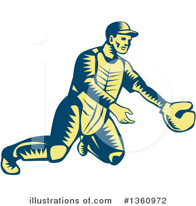 Royalty-Free (RF) Baseball Clipart Illustration by patrimonio - Stock Sample #1360972