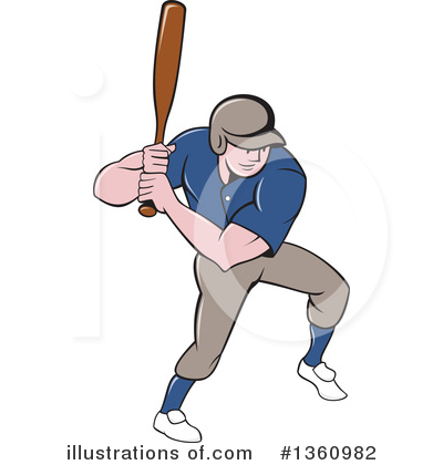 Royalty-Free (RF) Baseball Clipart Illustration by patrimonio - Stock Sample #1360982