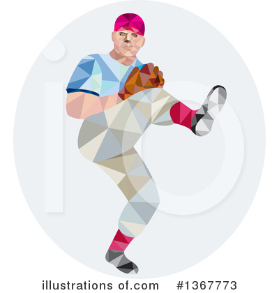 Royalty-Free (RF) Baseball Clipart Illustration by patrimonio - Stock Sample #1367773