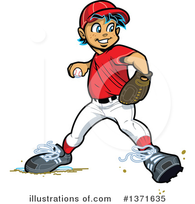 Royalty-Free (RF) Baseball Clipart Illustration by Clip Art Mascots - Stock Sample #1371635