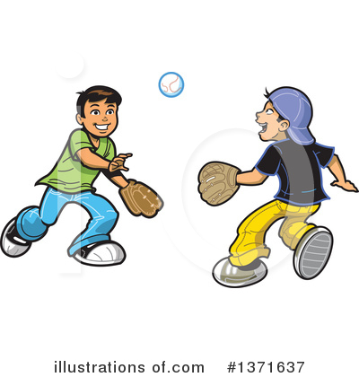 Royalty-Free (RF) Baseball Clipart Illustration by Clip Art Mascots - Stock Sample #1371637