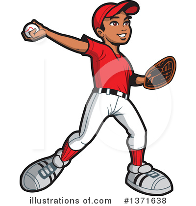 Royalty-Free (RF) Baseball Clipart Illustration by Clip Art Mascots - Stock Sample #1371638