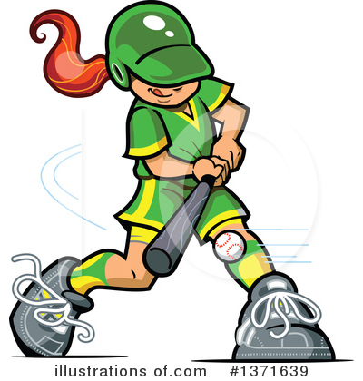 Softball Clipart #1371639 by Clip Art Mascots