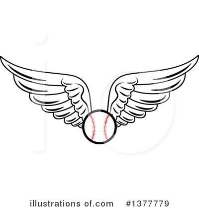 Baseball Clipart #1377779 by Vector Tradition SM