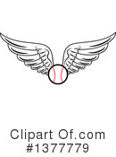Royalty-Free (RF) Baseball Clipart Illustration #1377779