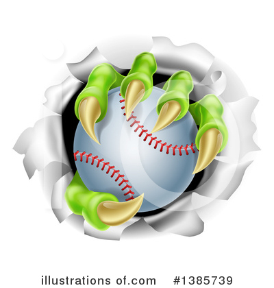Softball Clipart #1385739 by AtStockIllustration