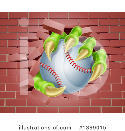 Baseball Clipart #1389015 by AtStockIllustration