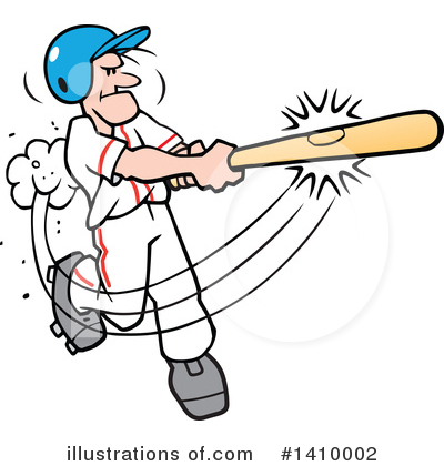 Baseball Clipart #1410002 by Johnny Sajem