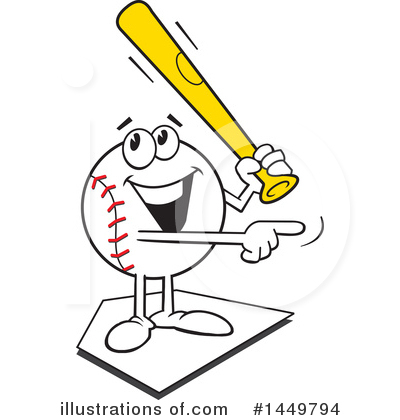 Baseball Clipart #1449794 by Johnny Sajem