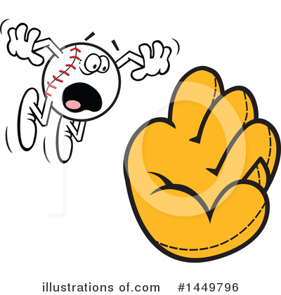Baseball Clipart #1449796 by Johnny Sajem