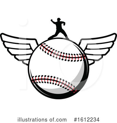 Royalty-Free (RF) Baseball Clipart Illustration by Vector Tradition SM - Stock Sample #1612234