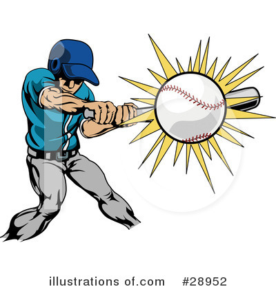 Baseball Clipart #28952 by AtStockIllustration
