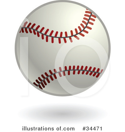 Baseball Clipart #34471 by AtStockIllustration