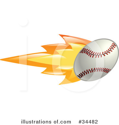 Baseball Clipart #34482 by AtStockIllustration