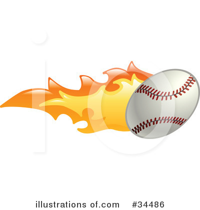 Baseball Clipart #34486 by AtStockIllustration