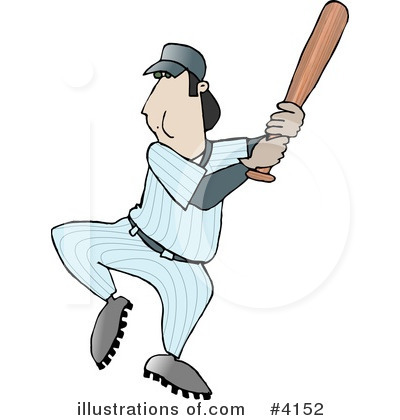 Royalty-Free (RF) Baseball Clipart Illustration by djart - Stock Sample #4152