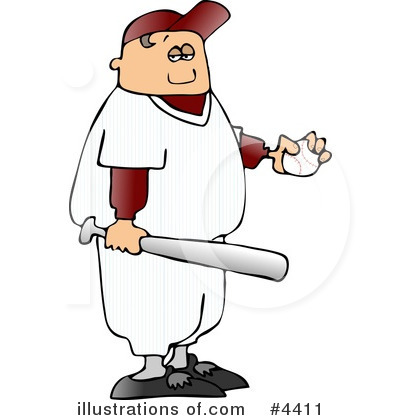 Royalty-Free (RF) Baseball Clipart Illustration by djart - Stock Sample #4411