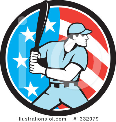 Baseball Clipart #1332079 by patrimonio