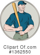 Baseball Player Clipart #1362550 by patrimonio