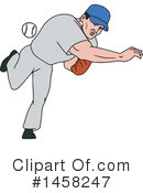 Baseball Player Clipart #1458247 by patrimonio