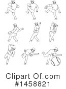 Baseball Player Clipart #1458821 by patrimonio