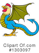 Royalty-Free (RF) Basilisk Clipart Illustration #1303097