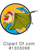 Royalty-Free (RF) Basilisk Clipart Illustration #1303098
