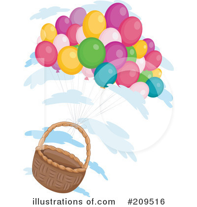 Party Balloons Clipart #209516 by BNP Design Studio