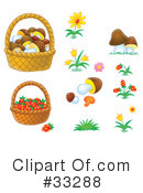 Basket Clipart #33288 by Alex Bannykh