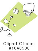 Royalty-Free (RF) Basketball Clipart Illustration #1048900