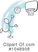 Royalty-Free (RF) Basketball Clipart Illustration #1048908