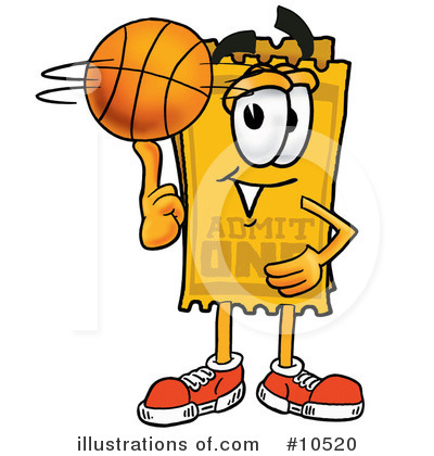 Basketball Clipart #10520 by Toons4Biz