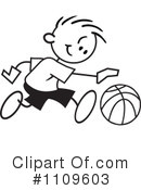 Basketball Clipart #1109603 by Johnny Sajem