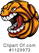 Basketball Clipart #1129973 by Chromaco