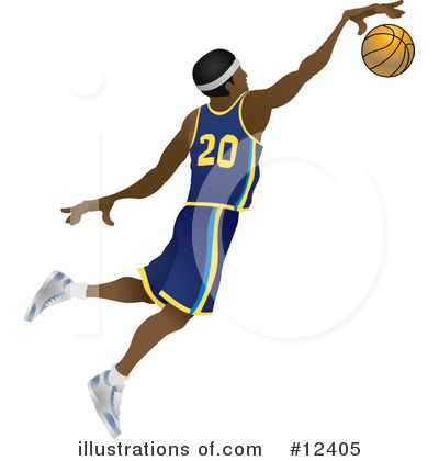Basketball Clipart #12405 by AtStockIllustration