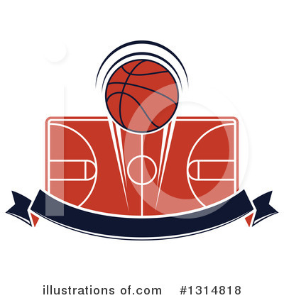 Basketball Clipart #1314818 by Vector Tradition SM