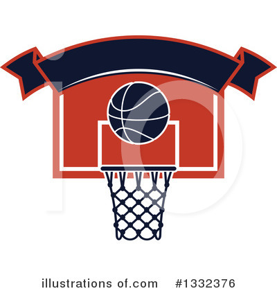 Basketball Clipart #1332376 by Vector Tradition SM