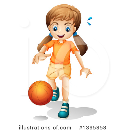 Basketball Clipart #1365858 by Graphics RF