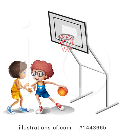 Basketball Clipart #1443665 by Graphics RF