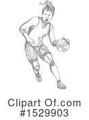 Basketball Clipart #1529903 by patrimonio