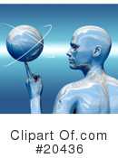 Royalty-Free (RF) basketball Clipart Illustration #20436