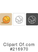 Royalty-Free (RF) Basketball Clipart Illustration #216970
