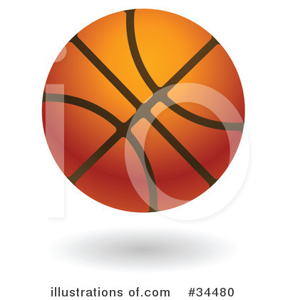 Basketball Clipart #34480 by AtStockIllustration