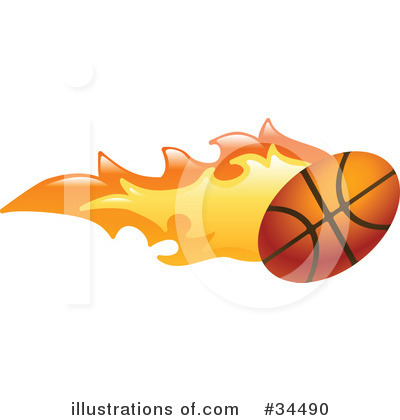 Basketball Clipart #34490 by AtStockIllustration