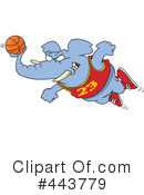 Basketball Clipart #443779 by toonaday
