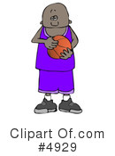 Royalty-Free (RF) basketball Clipart Illustration #4929